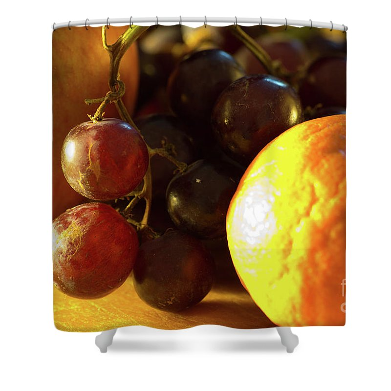 Food Shower Curtain featuring the photograph Various Fruit by Brian Roscorla