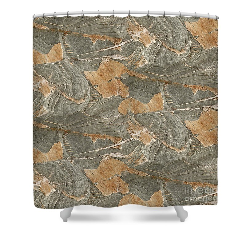 Rocks Shower Curtain featuring the photograph Vellin-gluz Rocks 18 by Joanna Davies