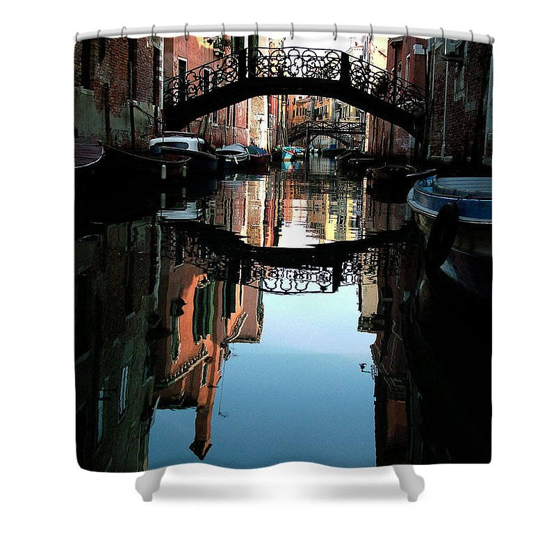 Venice Shower Curtain featuring the photograph Venetian Delight by Donna Corless