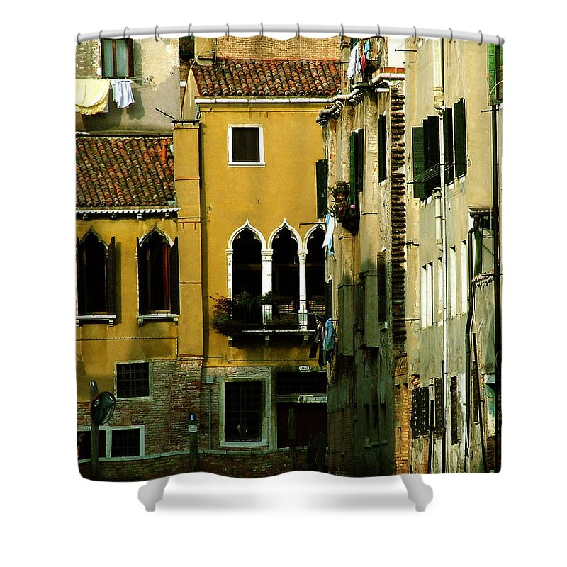Venice Shower Curtain featuring the photograph Venetian Gold by Donna Corless
