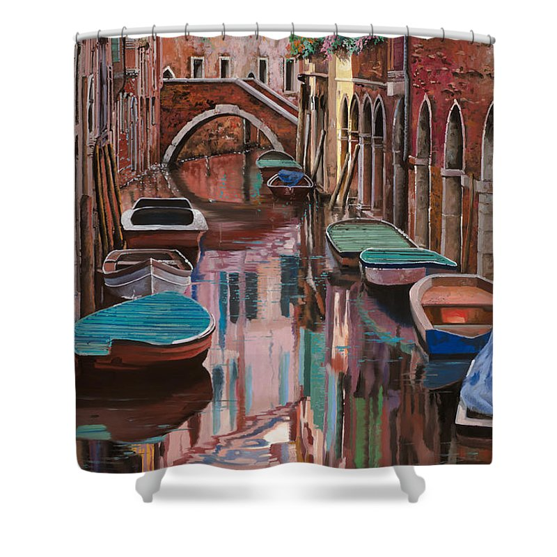 Venice Shower Curtain featuring the painting Venezia A Colori by Guido Borelli