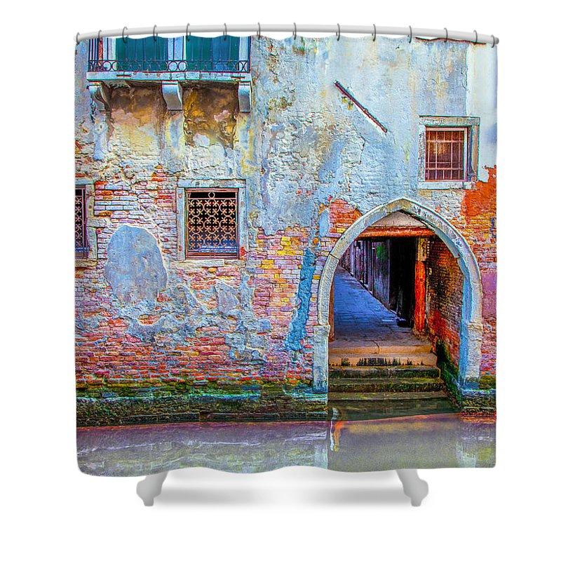 Italy Shower Curtain featuring the photograph Venice Canareggio Palace by Jean-luc Bohin