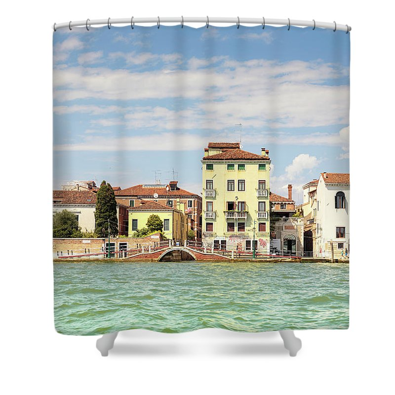 Elena Seychelles Shower Curtain featuring the photograph Venice In Summer by Elena Seychelles
