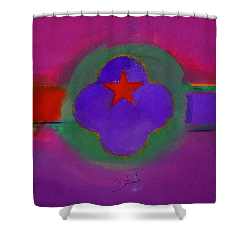 Star Shower Curtain featuring the painting Venice Spiritual by Charles Stuart