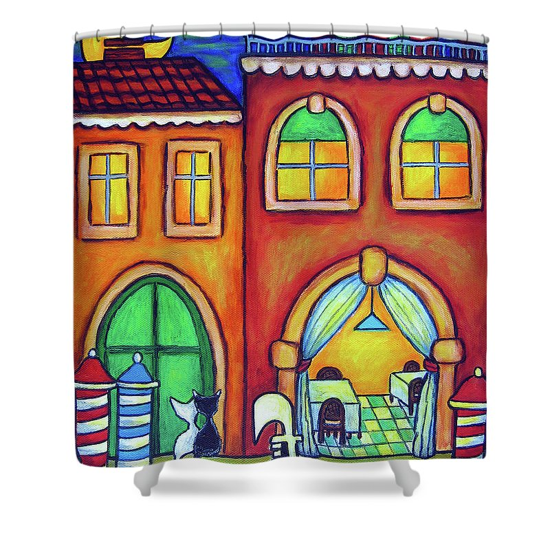 Venice Shower Curtain featuring the painting Venice Valentine II by Lisa Lorenz