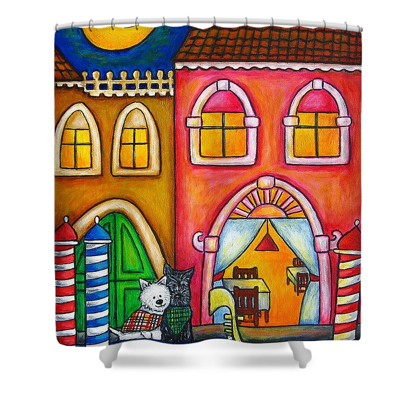 Venice Shower Curtain featuring the painting Venice Valentine by Lisa Lorenz