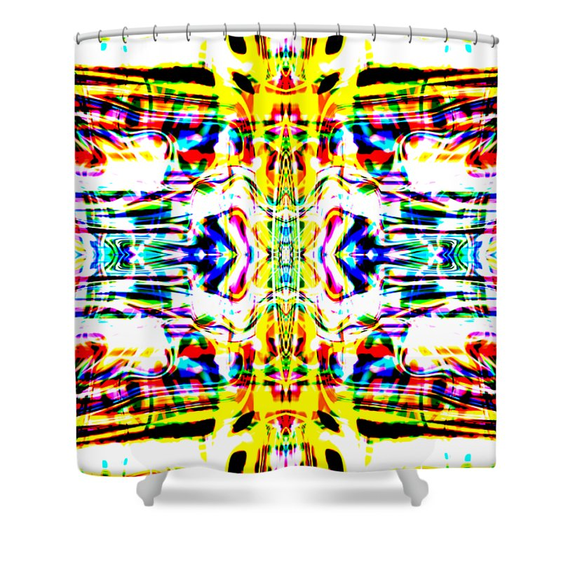 Abstract Shower Curtain featuring the digital art Vergeis by Blind Ape Art