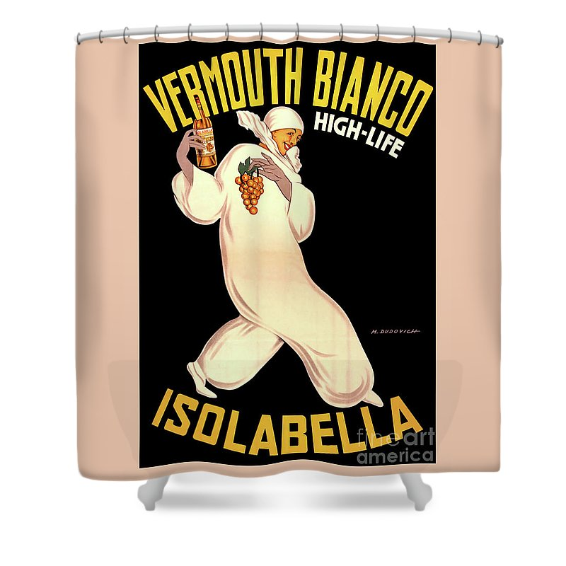 Shower Curtain featuring the drawing Vermouth Bianco by Aapshop