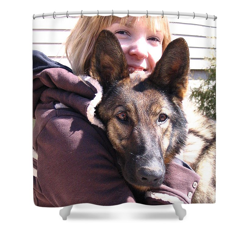 Daughter Shower Curtain featuring the photograph Vero Et Foxy by Line Gagne