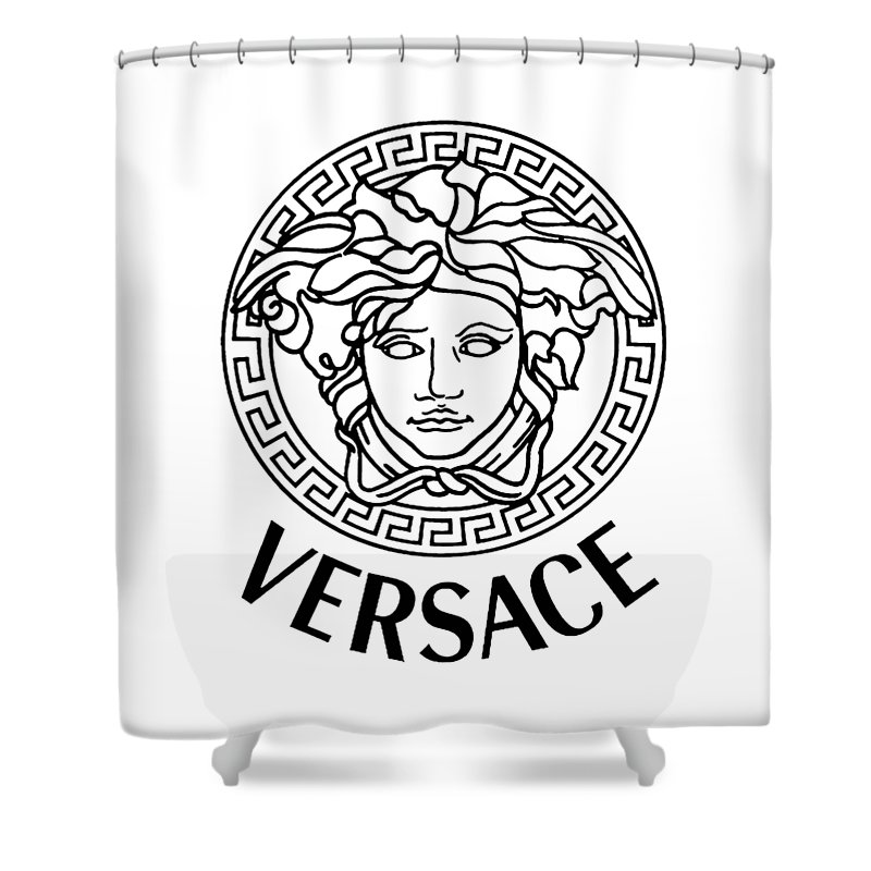 Logo Shower Curtain Featuring The Drawing Versace By Jull Anna
