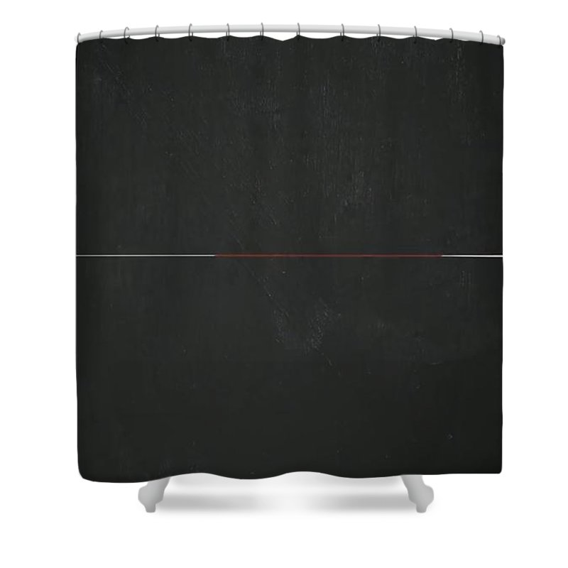 Blackboard Divided Shower Curtain featuring the painting Vertical Blackboard by Archangelus Gallery