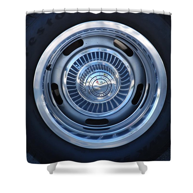 Corvette Shower Curtain featuring the photograph Vette Wheel by Rob Hans