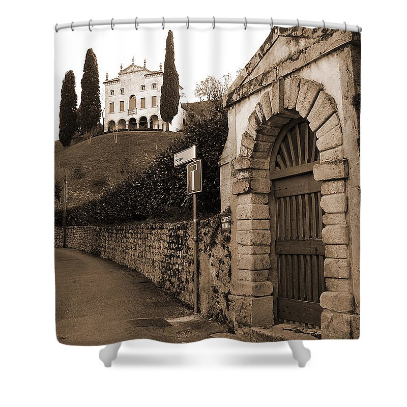 Via Fosse Shower Curtain featuring the photograph Via Fosse by Donna Corless