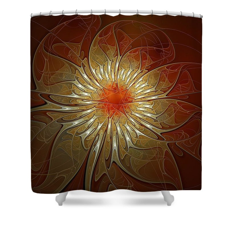 Digital Art Shower Curtain featuring the digital art Vibrance by Amanda Moore