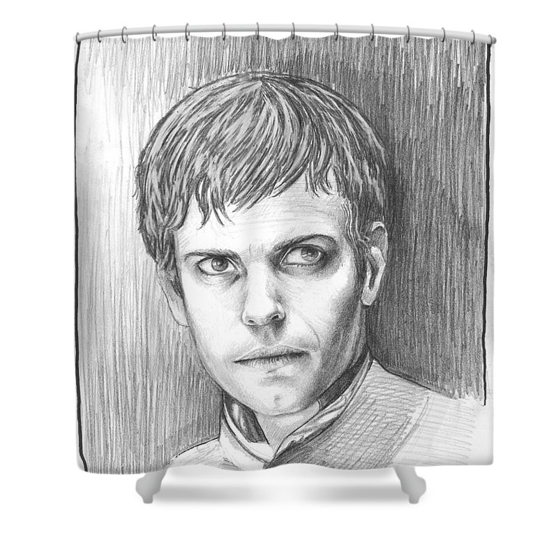Penny Dreadful Shower Curtain Featuring The Drawing Victor Frankenstein By James Parker