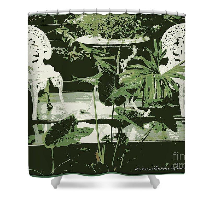 Victorian Shower Curtain featuring the photograph Victorian Garden Poster by Carol Groenen