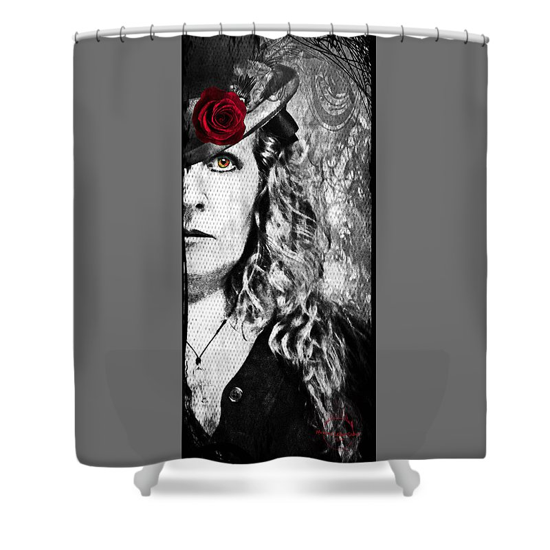Vampire Shower Curtain featuring the photograph Victorian Lady Vampire by Absinthe Art By Michelle LeAnn Scott