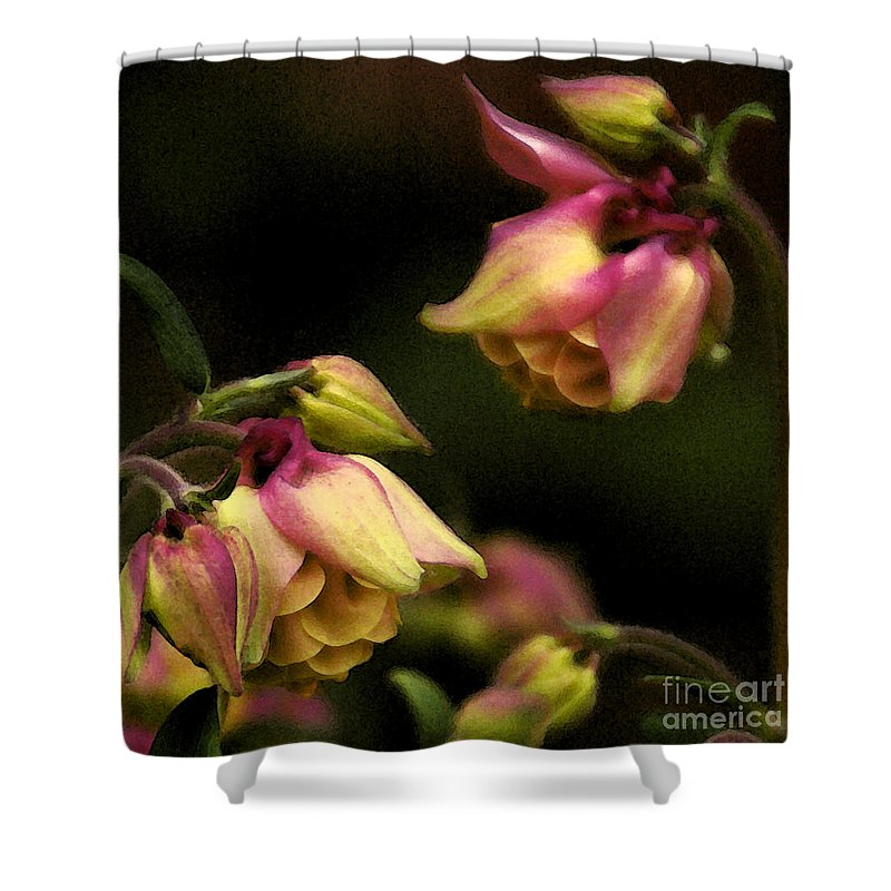 Flower Shower Curtain featuring the photograph Victorian Romance by Linda Shafer