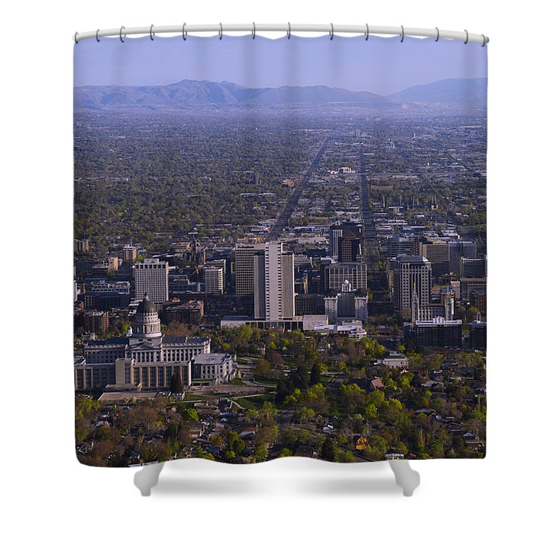 View From Ensign Shower Curtain featuring the photograph View From Ensign by Chad Dutson