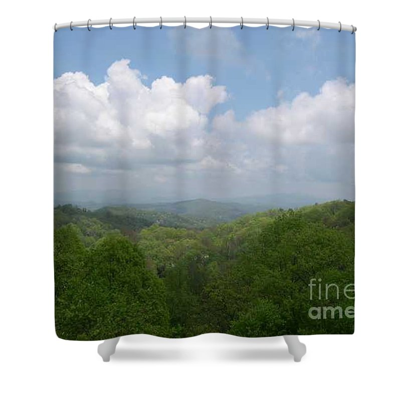 Mountains Shower Curtain featuring the photograph View From Ober Gatlinburg by Barb Montanye Meseroll