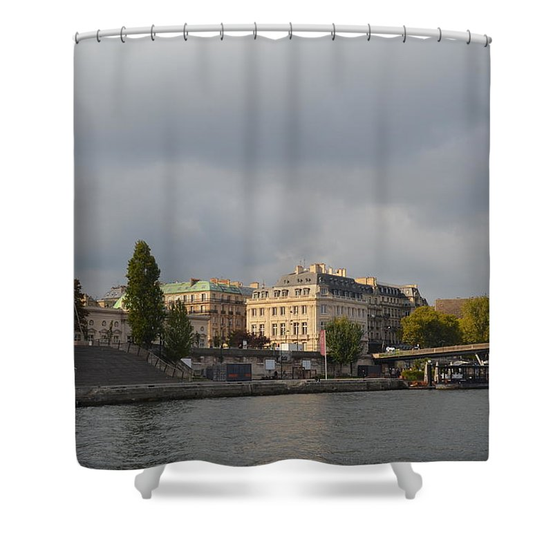 Seine Shower Curtain featuring the photograph View From The Seine by Dawn Crichton