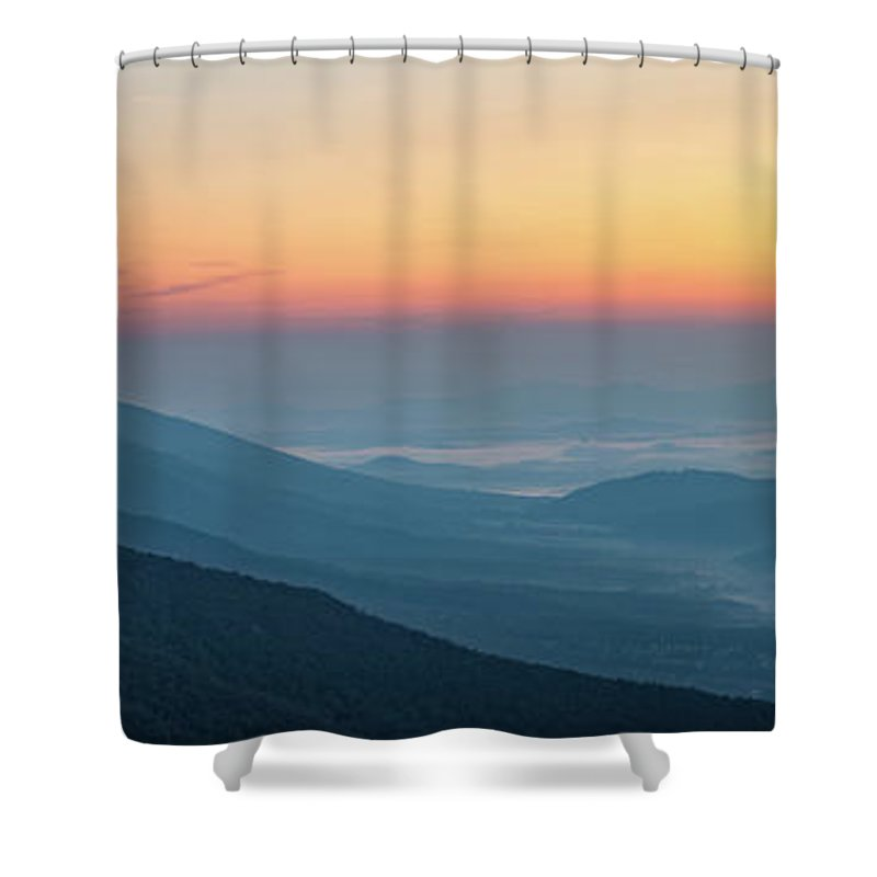 Shower Curtain featuring the photograph View From The Top by Steve Hammer