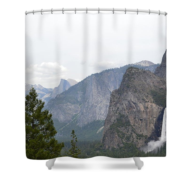 Yosemite Shower Curtain featuring the photograph View From The Valley by Laura Leigh McCall