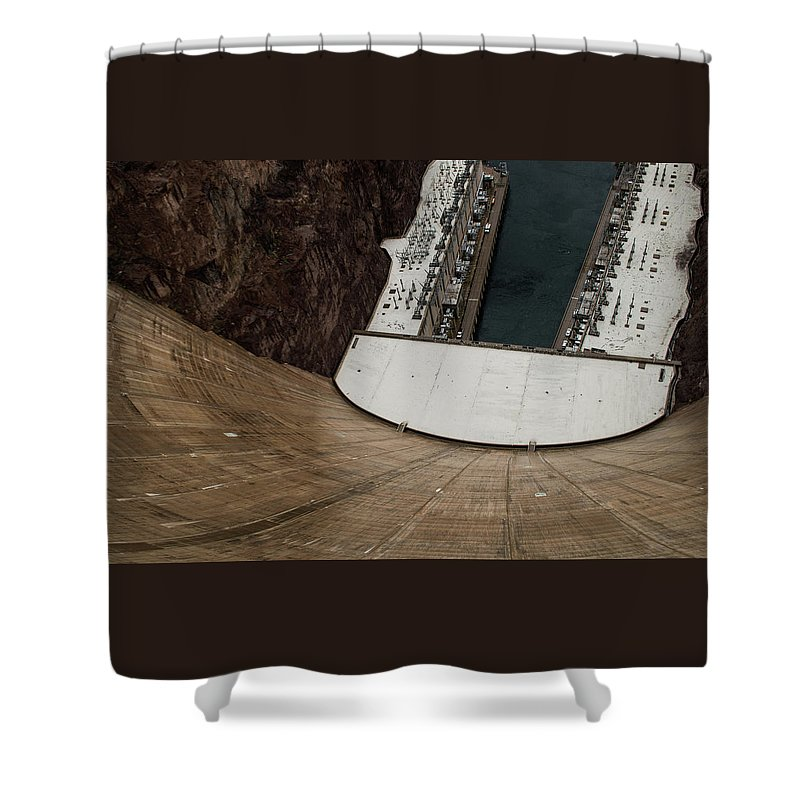 America Shower Curtain featuring the photograph View From Top Of Hoover Dam by Srinivasan Venkatarajan