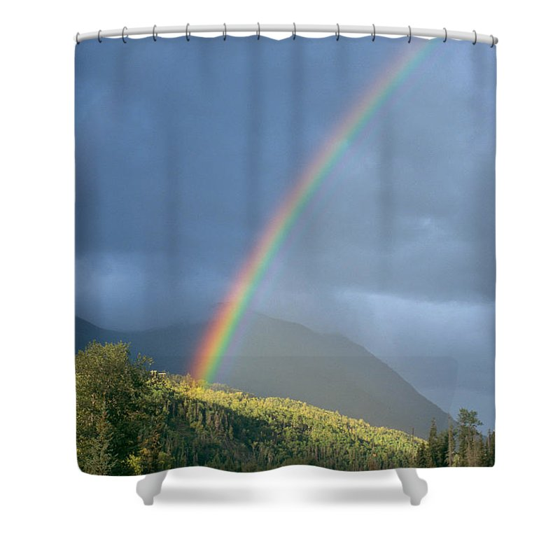 Afternoon Shower Curtain featuring the photograph View Of Alaska by Gloria & Richard Maschmeyer - Printscapes