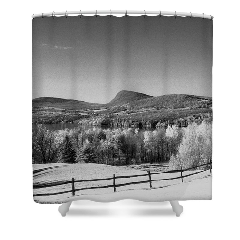 Landscape Shower Curtain featuring the photograph View Of Lake Willoughby by Richard Rizzo