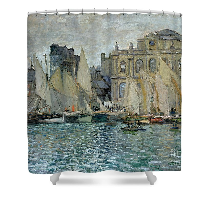 View Of Le Havre Shower Curtain featuring the painting View Of Le Havre by Claude Monet