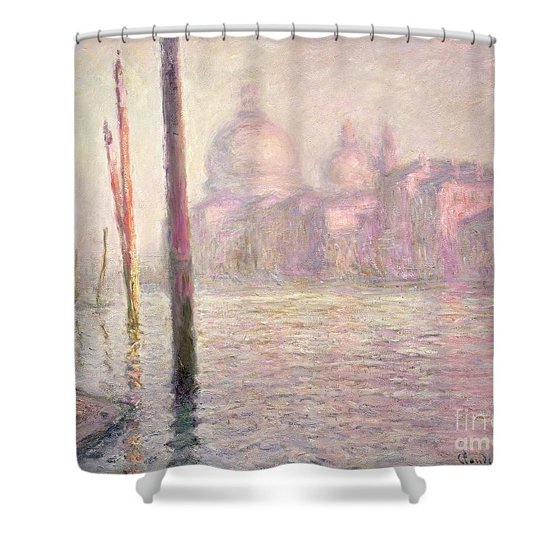 French Shower Curtain featuring the painting View Of Venice by Claude Monet