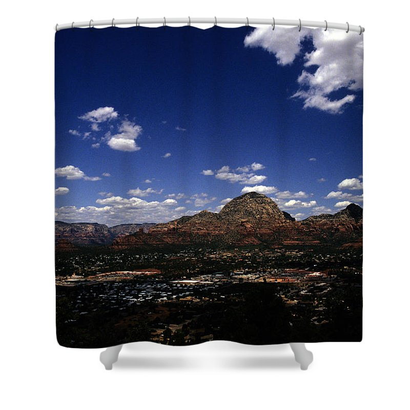 Sedona Shower Curtain featuring the photograph View Overlooking Sedona, Arizona by Stacy Gold