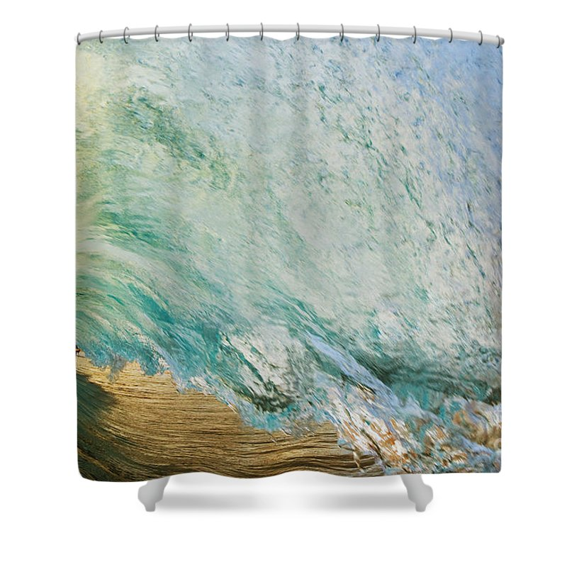 Amazing Shower Curtain featuring the photograph View Through Wave Tube by MakenaStockMedia
