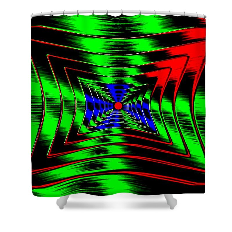 Energizing Shower Curtain featuring the digital art Vim And Vigor by Will Borden