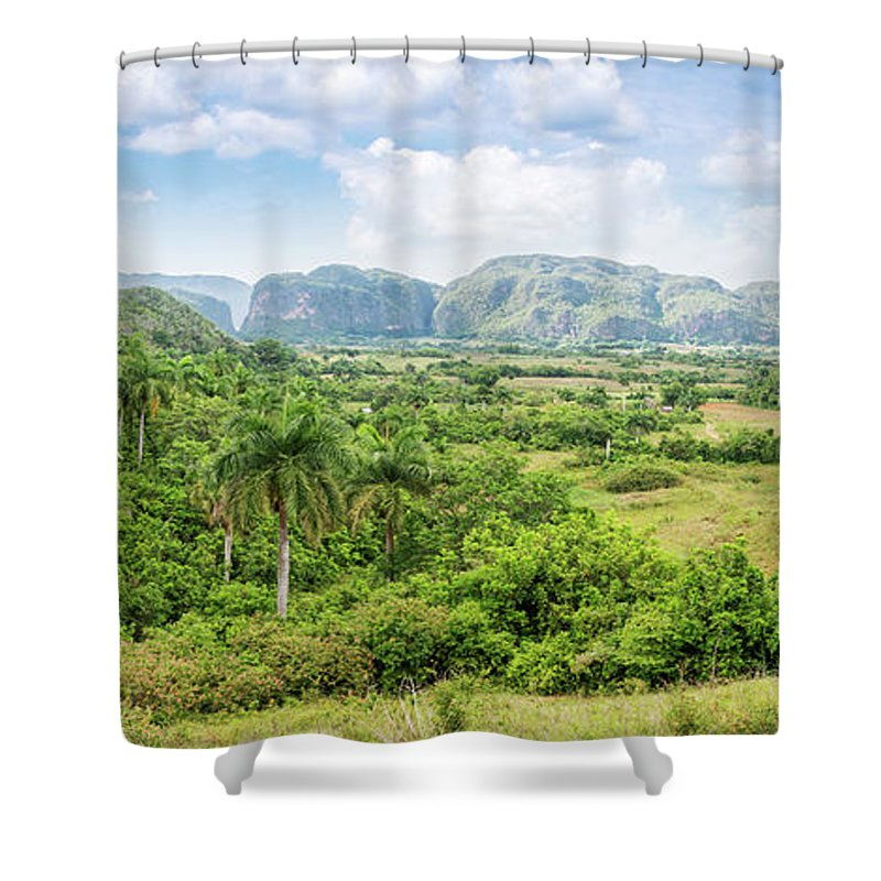 Cuba Shower Curtain featuring the photograph Vinales Valley by Delphimages Photo Creations