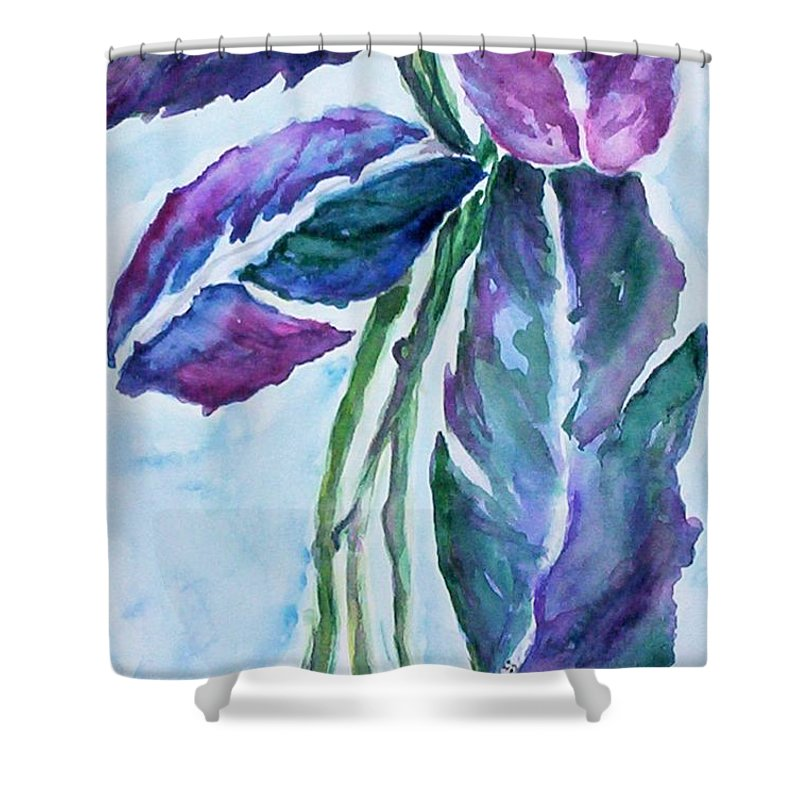 Landscape Shower Curtain featuring the painting Vine by Suzanne Udell Levinger