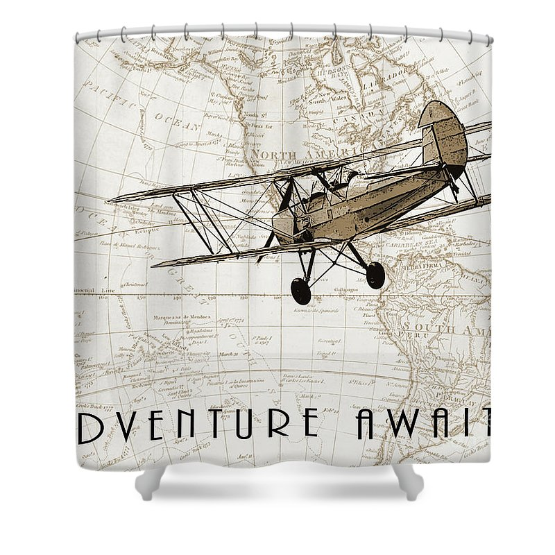 Beige Drawings Shower Curtains