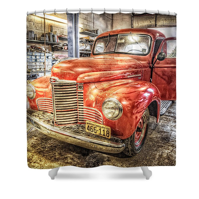 Vintage Auto Service Garage Shower Curtain for Sale by Debra and ...