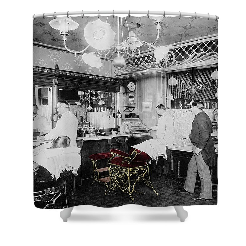 Vintage Barbershop 4 Shower Curtain For Sale By Andrew Fare