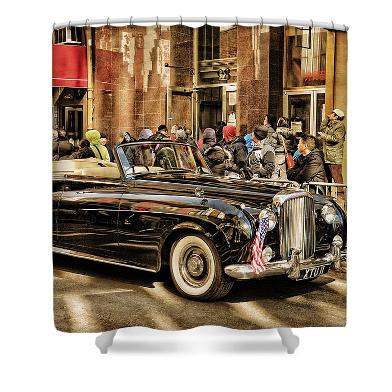 Vintage Bentley Convertible Shower Curtain for Sale by Mike Martin