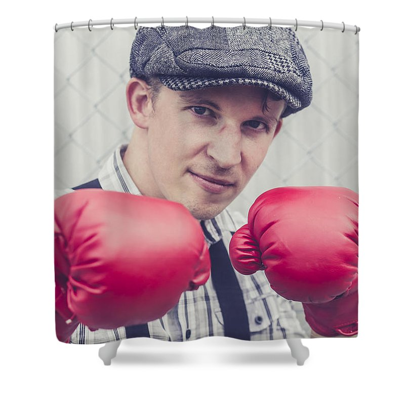 Attitude Shower Curtain featuring the photograph Vintage Boxers by Jorgo Photography - Wall Art Gallery