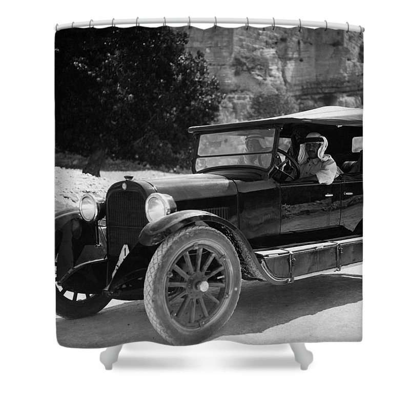 Car Shower Curtain Featuring The Photograph Vintage