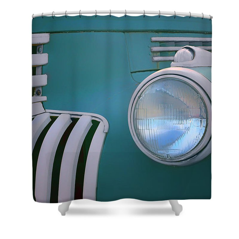 Tank Wagon Shower Curtain featuring the photograph Vintage - Chevrolet Truck - Detail 1 by Nikolyn McDonald