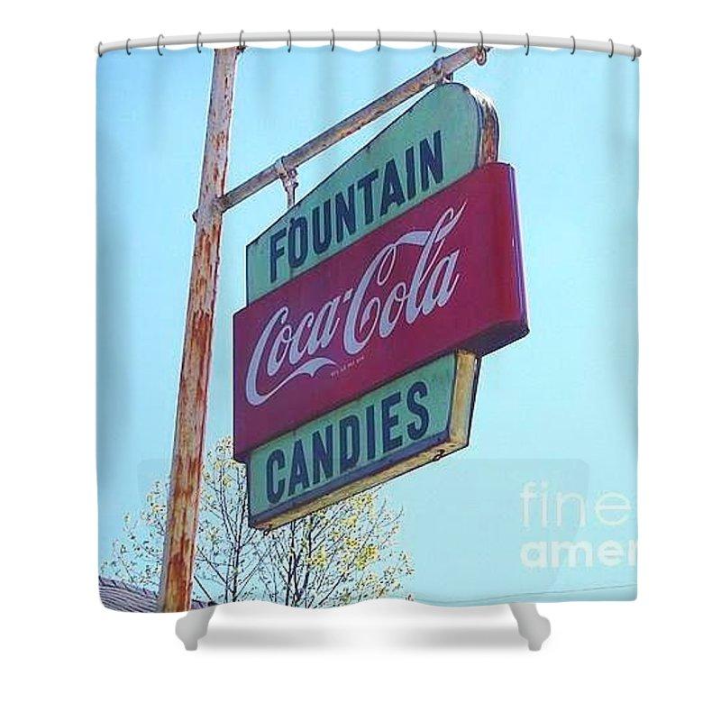 Coca Cola Bathroom Decor: Vintage Coca-cola Sign Shower Curtain For Sale By Donna Dixon