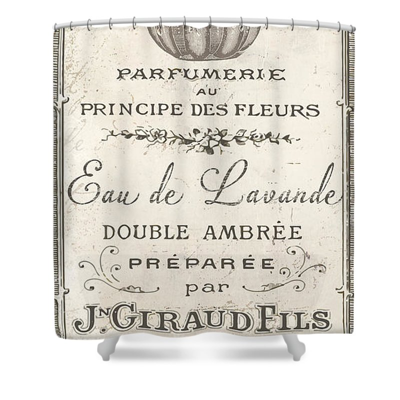 Vintage French Perfume Sign Shower Curtain For Sale By Mindy Sommers