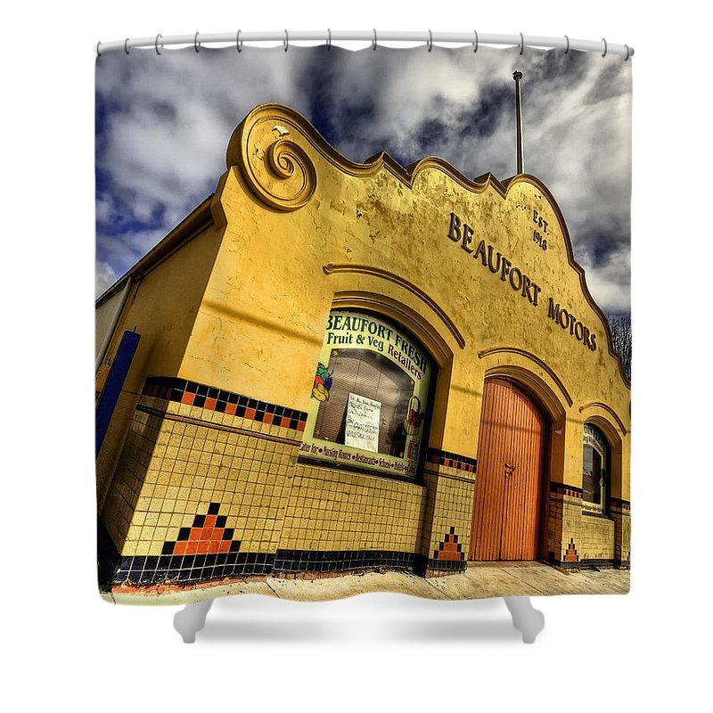 Architecture Shower Curtain featuring the photograph Vintage Gem by Wayne Sherriff