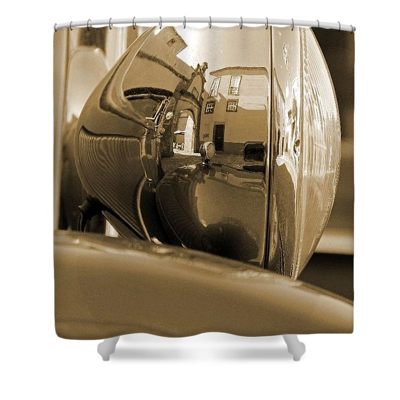 Vintage Shower Curtain featuring the photograph Vintage Headlight by Ruth Parsons