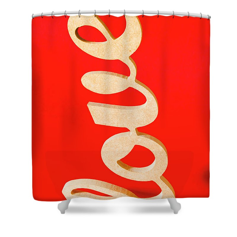 Love Shower Curtain featuring the photograph Vintage Love Sign by Jorgo Photography - Wall Art Gallery