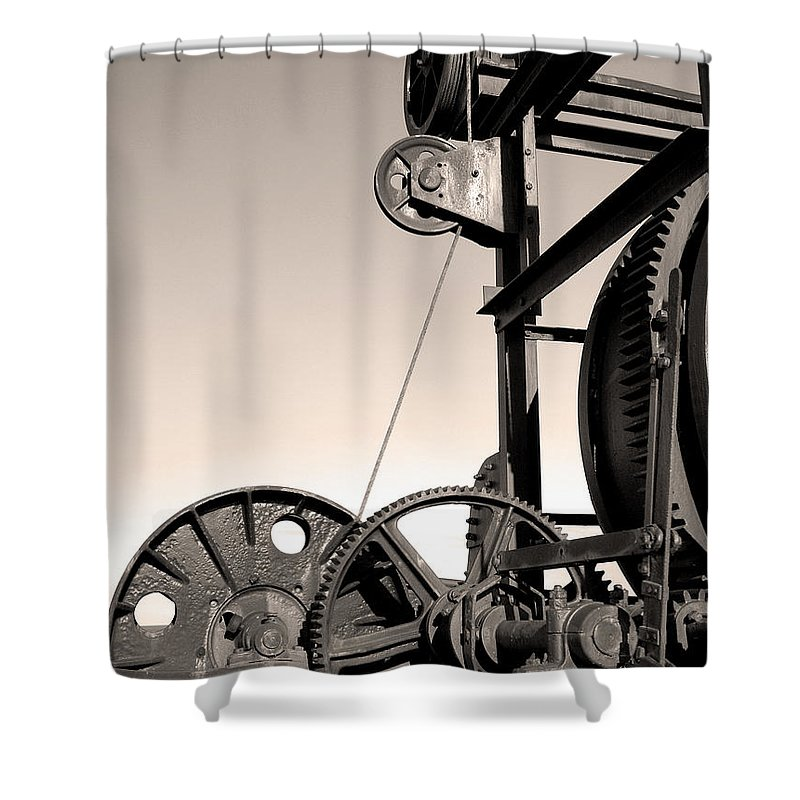 Antique Shower Curtain featuring the photograph Vintage Machinery by Gaspar Avila